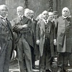 The founding Cabinet of Czechoslovakia. Adolf S.third from right